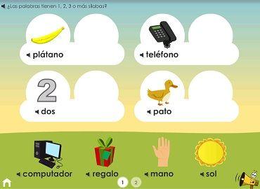 Juegos silábicos - en español.