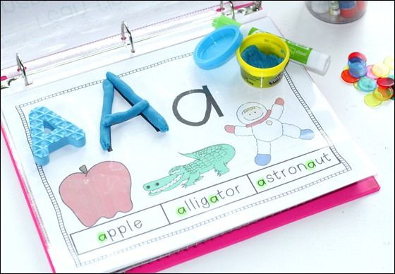 Letter identification and recognition.