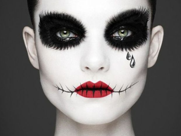 #Halloween #Maquillaje #Makeup #Makeover #Ideas #Tips Maquillaje para Halloween: Muñeca con boca rota y lágrimas