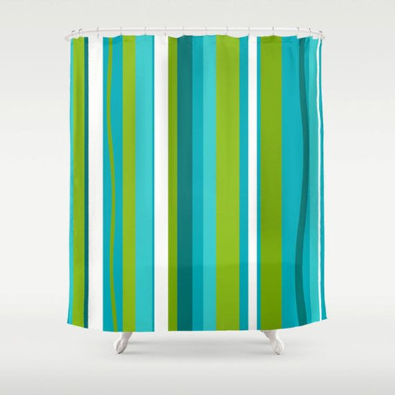 Modern Shower Curtain Turquoise By Crashpaddesigns