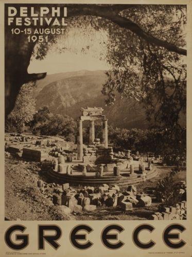 Greek festival of Delphi, 1951