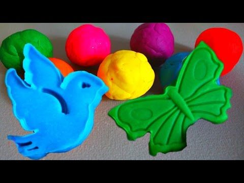 Learn Colours And Play with Playdough Balls and Animals Molds - Creative Videos For Toddlers - YouTube