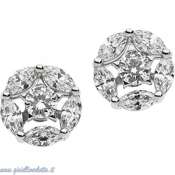 comete gioielli stella orecchini punto luce in oro bianco con diamanti ORB 750 Gioielleria Shopping Online  http://www.gioiellivarlotta.it/product.php?id_product=1792