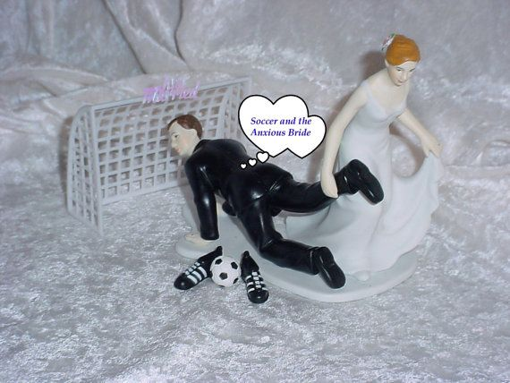 funny wedding cake toppers soccer soccer lover groom fifa football sports wedding cake 14606