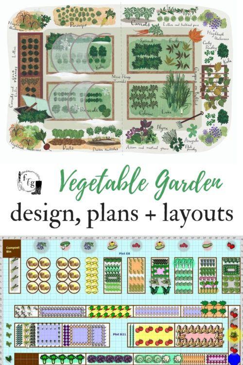 Gemüsegarten Pläne, Designs + Layout-Ideen