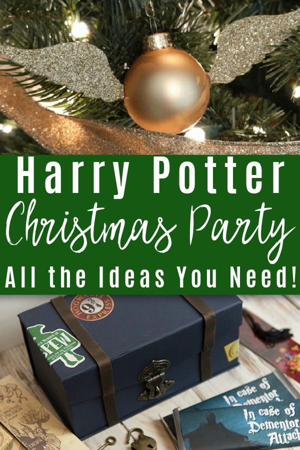 Harry Potter Christmas Party Ideas In 2020 Harry Potter Christmas Harry Potter Christmas Ornaments Harry Potter Christmas Decorations