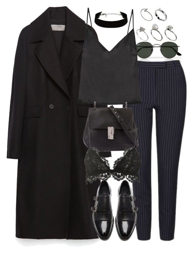 """""""Untitled #9754"""" by nikka-phillips ❤ liked on Polyvore featuring Ray-Ban, Zara, Topshop, Protagonist, Chloé, The Kooples, Isabel Marant and ASOS"""