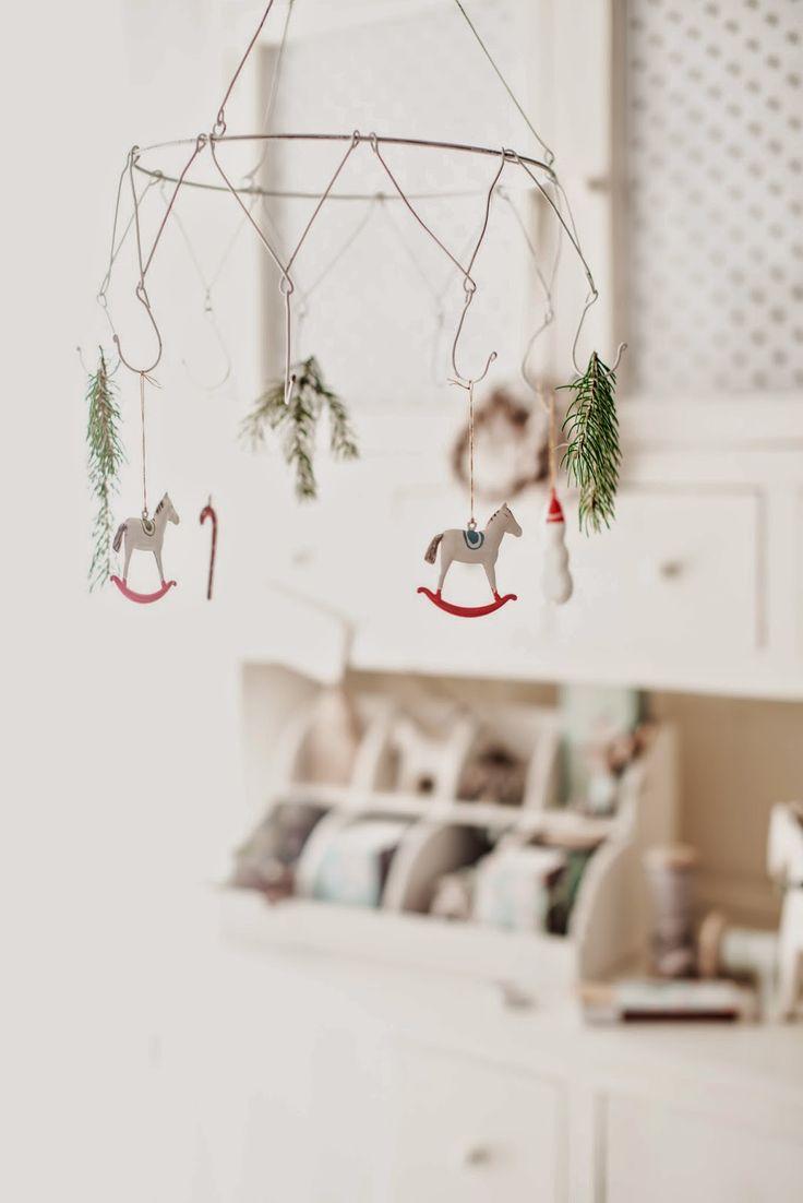 Minty Casa Blog Decoro appeso con grucce fil di ferro.
