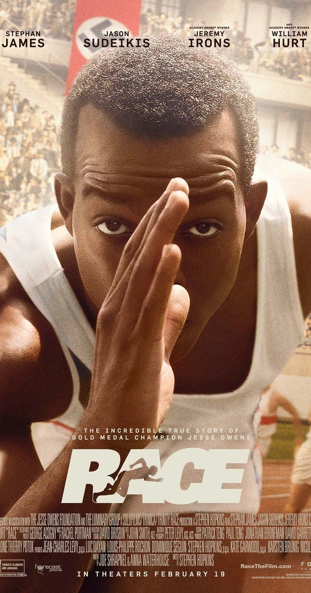 Directed by Stephen Hopkins.  With Carice van Houten, Jason Sudeikis, Amanda Crew, Jeremy Irons. Jesse Owens' quest to become the greatest track and field athlete in history thrusts him onto the world stage of the 1936 Olympics, where he faces off against Adolf Hitler's vision of Aryan supremacy.