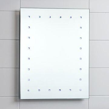 Popular LED Illuminated Mirror Rectangular Bathroom Battery Powered Light Up