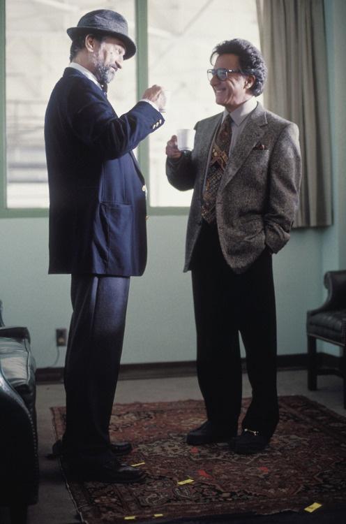 "Robert De Niro & Dustin Hoffman in ""Wag The Dog"" (1997)."