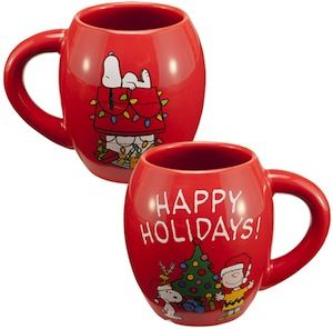 Charlie Brown And Snoopy Christmas Mug