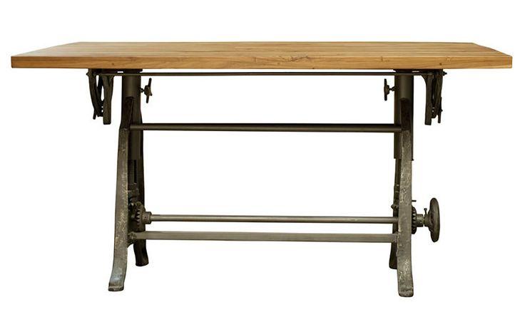 Home Trends U0026 Design Industrial Loft Drafting Desk | Furniture Market,  Austin, Texas