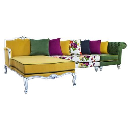 Victoria Yellow Corner Sofa