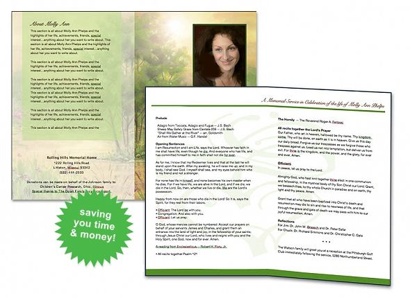 12 best cards funeral templates programs images on for Funeral brochure template