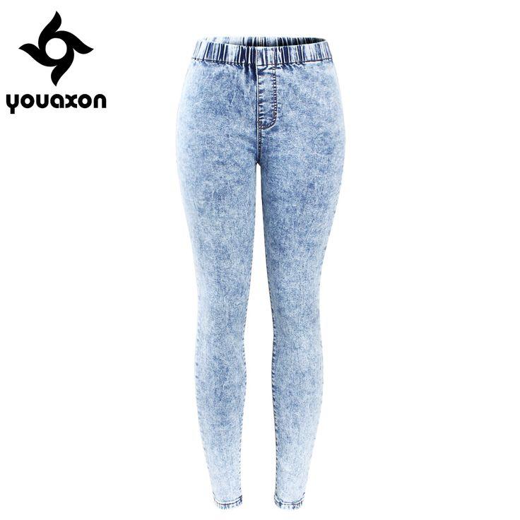 Купить товар2129 youaxon новый плюс Размеры ультра эластичные выбеленные джинсы женские джинсовые штаны брюки для женщин Карандаш обтягивающие джинсы в категории Джинсына AliExpress. 2129 youaxon новый плюс Размеры ультра эластичные выбеленные джинсы женские джинсовые штаны брюки для женщин Карандаш обтягивающие джинсы