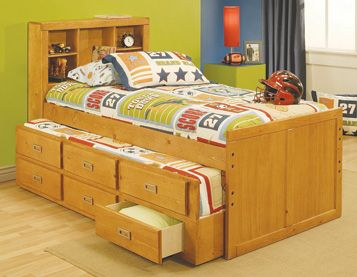 The Oak Furniture West Twin Bookcase Headboard Bed Features Contemporary Styling Storage Bookcase And