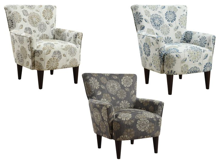 Flower Power Accent Chairs 3655 Emerald Home