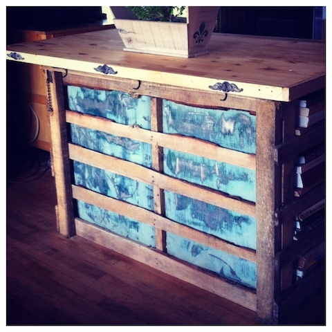1000 images about pallet kitchen island on pinterest for Make a kitchen island out of pallets