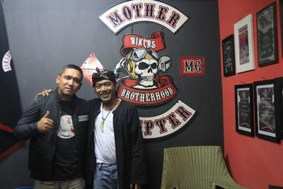 With bro Budi Dalton, President of Biker Brotherhood MC....