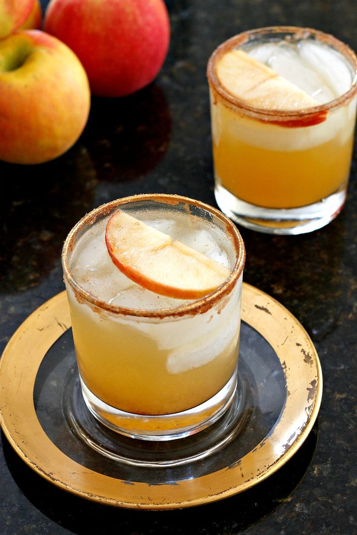 Apple Cider Margaritas - Perfectly festive and tasty Apple Cider Margaritas to usher in Fall!