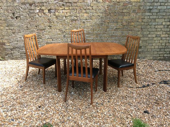 Mid century 1960s Gplan teak dining table and four chairs42 best Vintage midcentury dining furniture images on Pinterest  . Mid Century Teak Dining Table And Chairs. Home Design Ideas