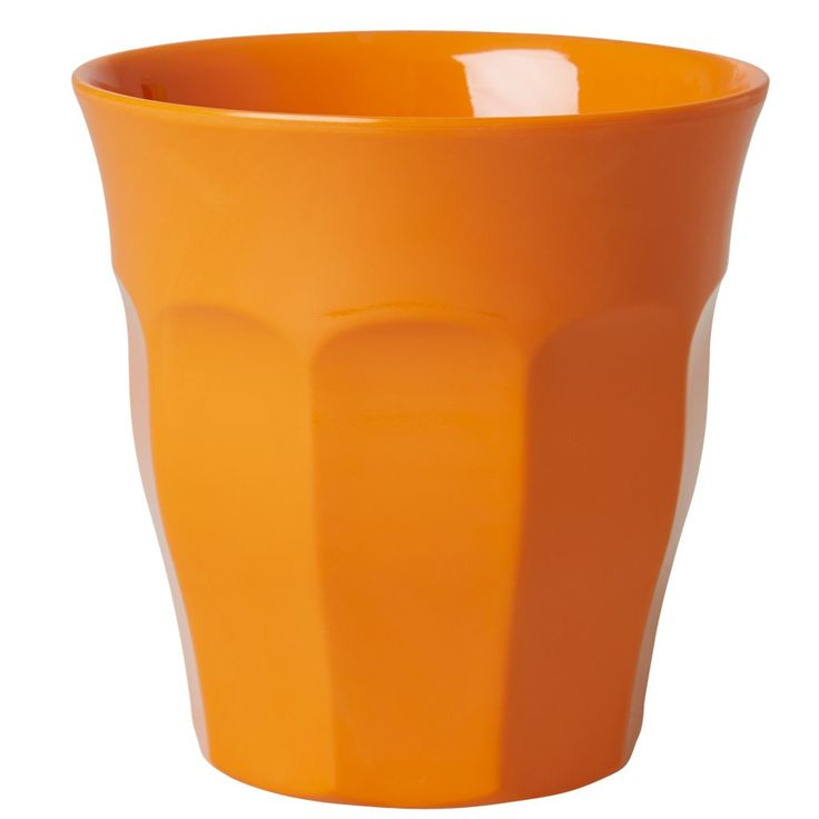 Orange Melamine Cup by Rice DK, Offerd by Modern Rascals. Fun, Durable Kids Cups and Dishes.
