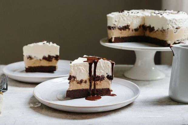Chocolate Coffee Ice Cream Cake by Yossi Arefi