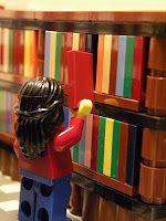 Lego people read: Libraries, Books, Lego Fun, Reading, Librarians, Legos, Lego Librarian, Lego Library, Legolibrarian