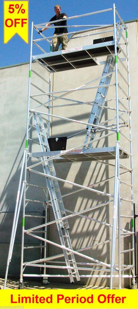New Aluminium Scaffolding Mobile Scaffold - Platform Adjustable 450kg Scaffold
