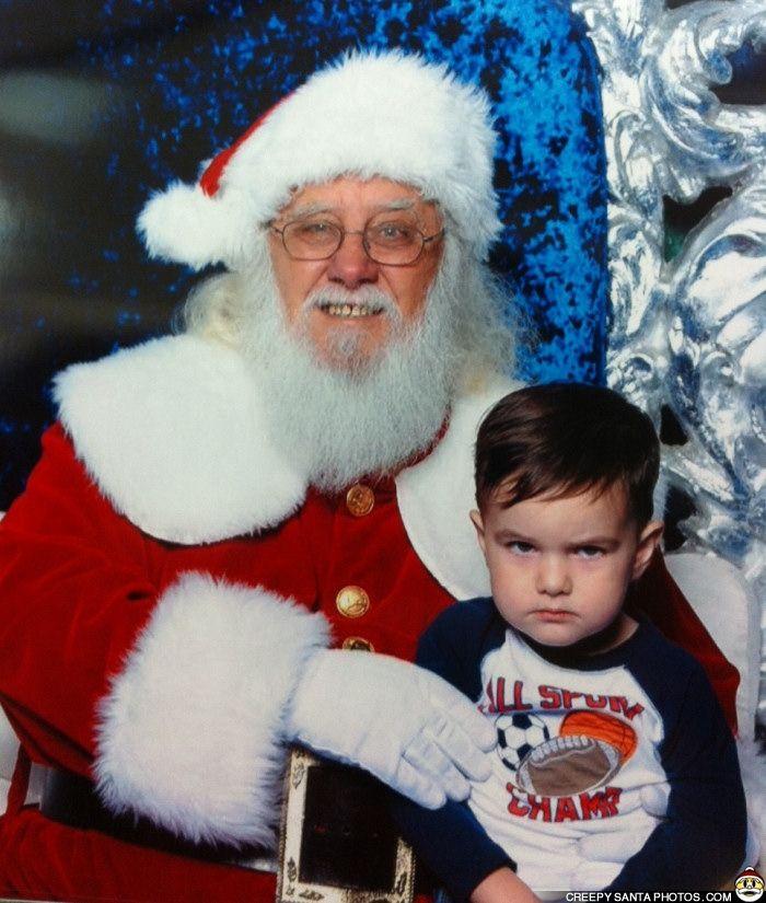 TOUGH KID REFUSES TO SMILE - Creepy Santa