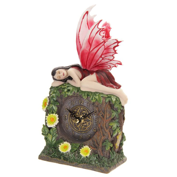 Secrets Of The Forest - Fairy Sleeping Clock Red