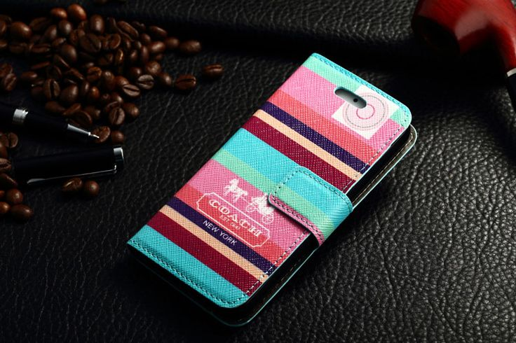 Coach iPhone 7 Book Wallet Cases Color Line