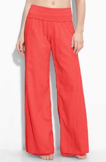 Love soft flowy pants as a cover up option for the beach. Just need a big hat.