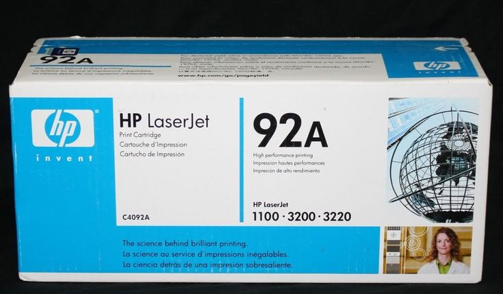 Genuine HP Hewlett Packard C4092A LaserJet Toner Cartridge Factory-Sealed Box  #HP