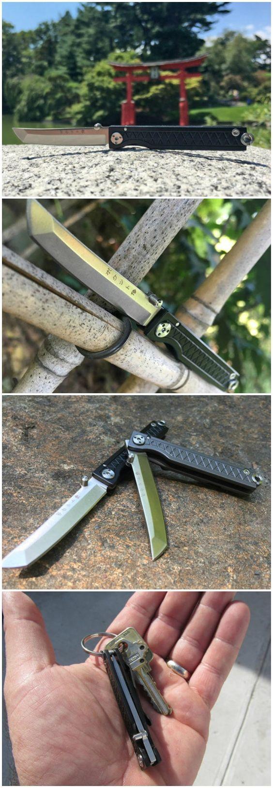 Pocket Samurai Titanium Keychain Knife - Perform Everyday Tasks Like a Samurai with This Tiny, Convenient Knife.