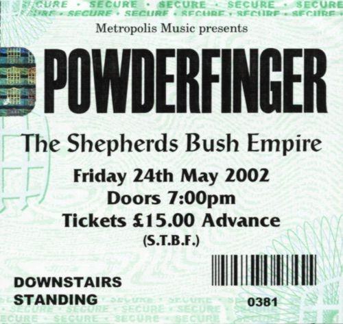 Powderfinger, London, 2002
