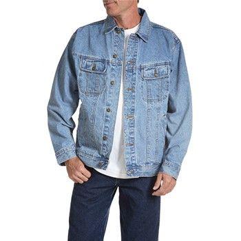 Wrangler Mens Big And Tall Denim Jacket Vintage Indigo