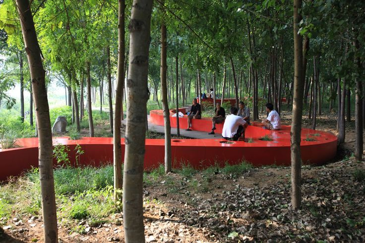 8 best housing courtyard images on pinterest landscape for Red landscape architects