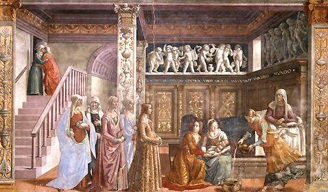 Nativité de la Vierge, Domenico Ghirlandaio, Florence, Santa Maria Novella
