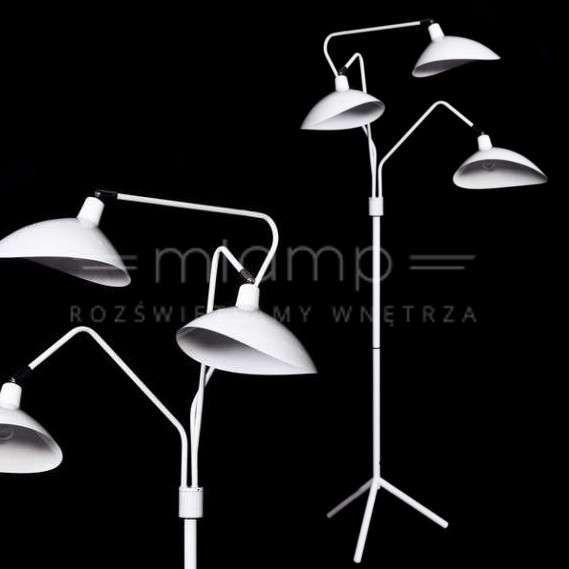 LAMPA podłogowa ADARRIO LDF 511 - 3 WT Lumina Deco regulowana OPRAWA metalowa biała