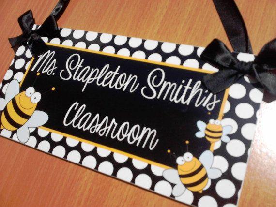Personalized Teacher Name Classroom Door Sign