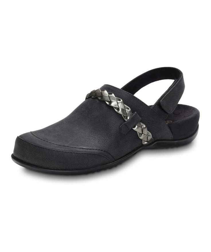 Price: $89.95 - Orthaheel Kerstin is a cool clog with an adjustable  backstrap. Great