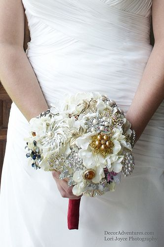 Bridal Brooch Bouquets.  Great to hold part of your family with you on your special day!