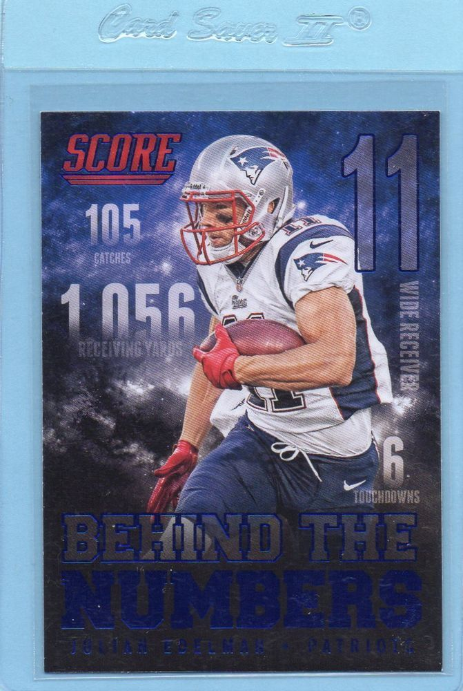 Julian Edleman 2014 Score Behind The Numbers Blue #BN13 New England Patriots #NewEnglandPatriots