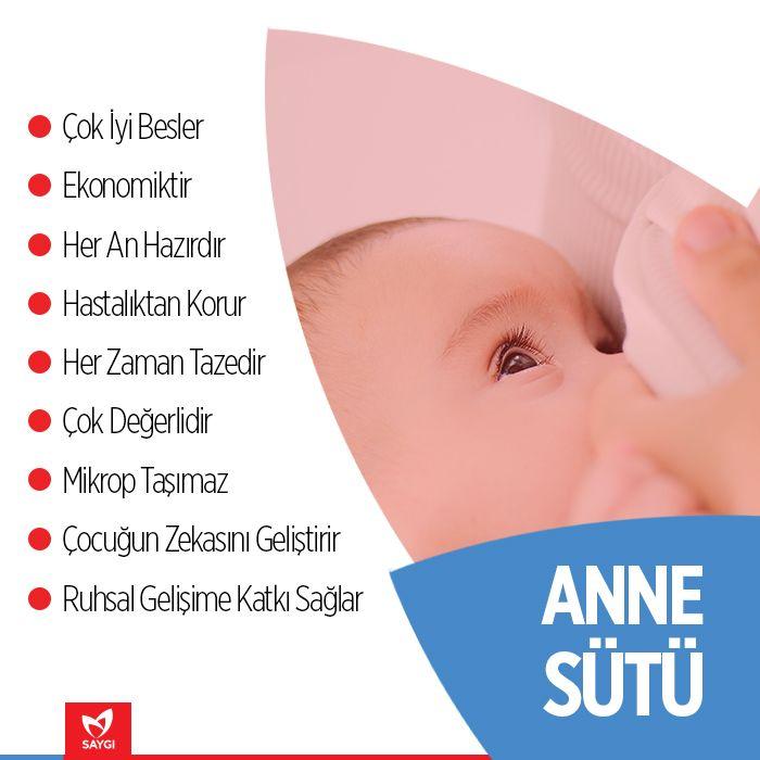 Anne sütünü tercih etmeliyiz çünkü...  #saygihastanesi #annesutu #emzirme #beslenme #bebek