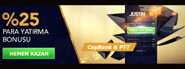 Justinbet Cepbank ve PTT yatırımlarınıza %25 bonus veriyor