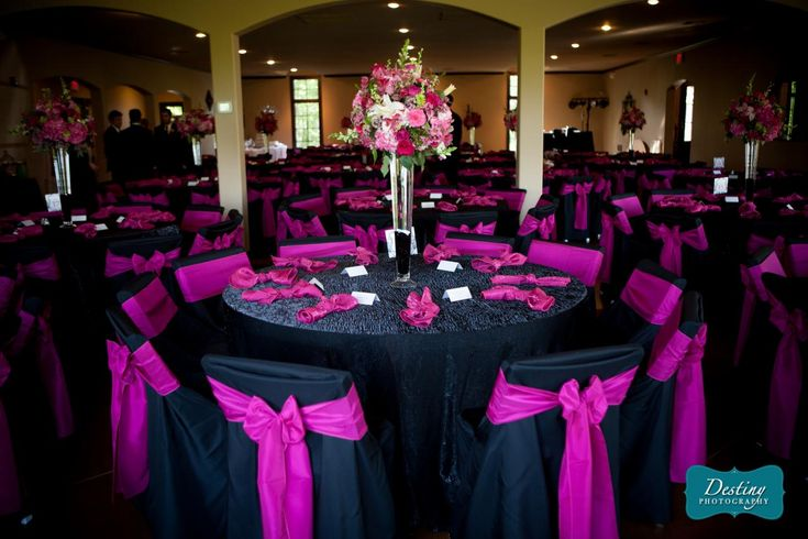 Black And Pink Wedding Decor Navy Amp Pink Would Be Better