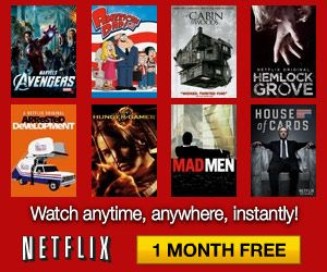 Netflix: FREE One-Month Trial Membership on http://www.icravefreebies.com/