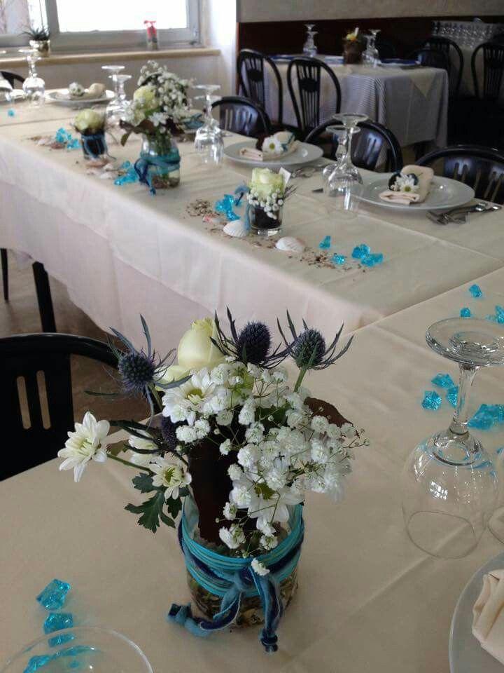 Decorazione floreale-marittima per un ristorante